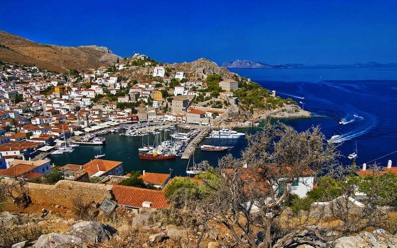 Port of hydra Saronic Destinations Tours in Greece Peloponnese Epos Travel Tours