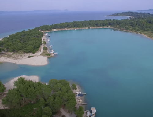 Glarokavos: The blue lake of Chalkidiki